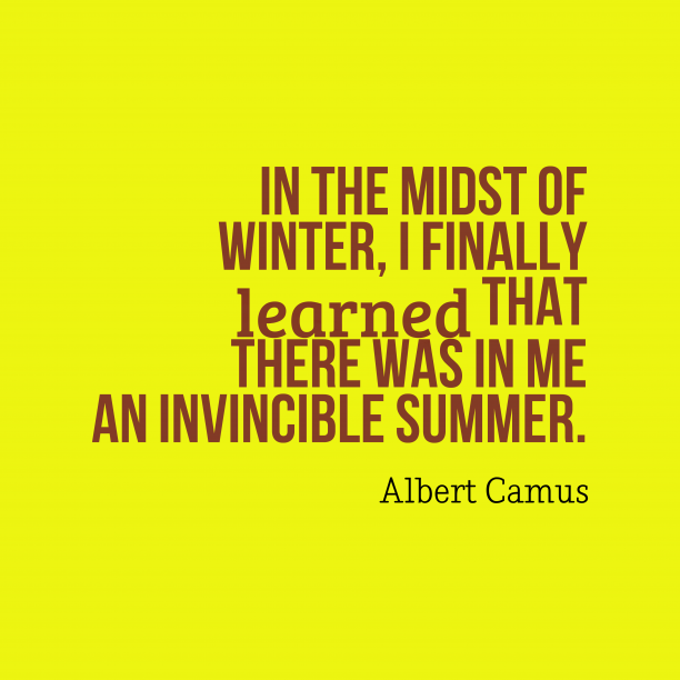 Albert Camus quote about seasons.