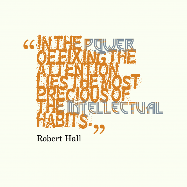 Robert Hall 's quote about . In the power of fixing…