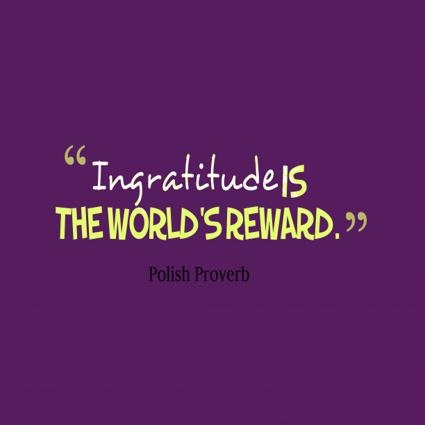 Polish wisdom about reward.