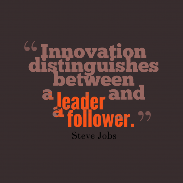 Steve Jobs quote about leader.