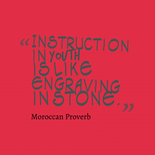 Moroccan wisdom about learn.