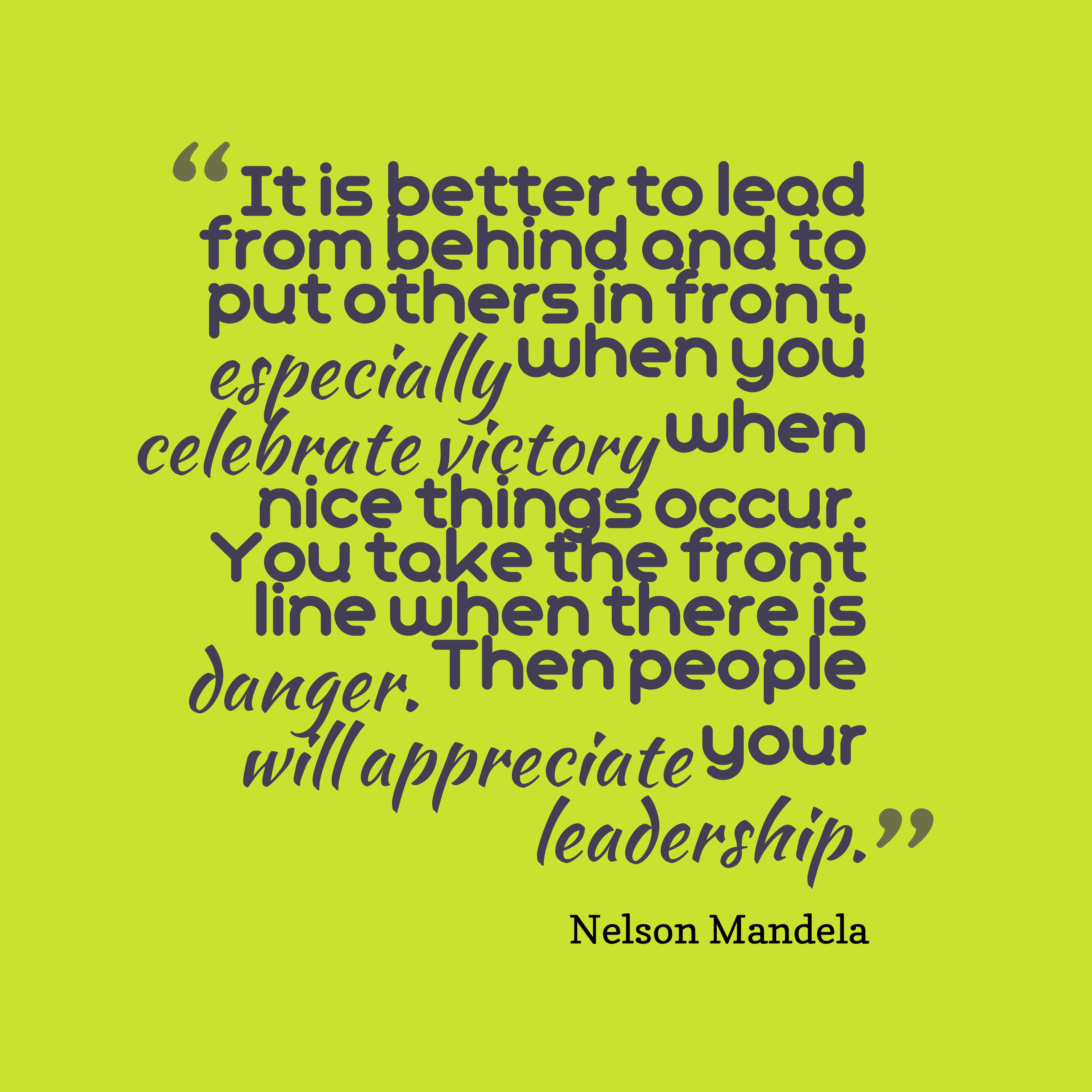Nelson Mandela Quote About Leadership