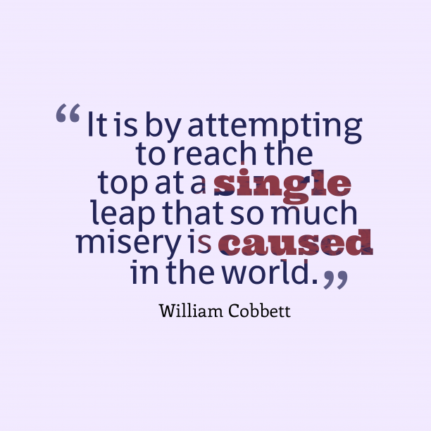 William Cobbett qoute about abition.