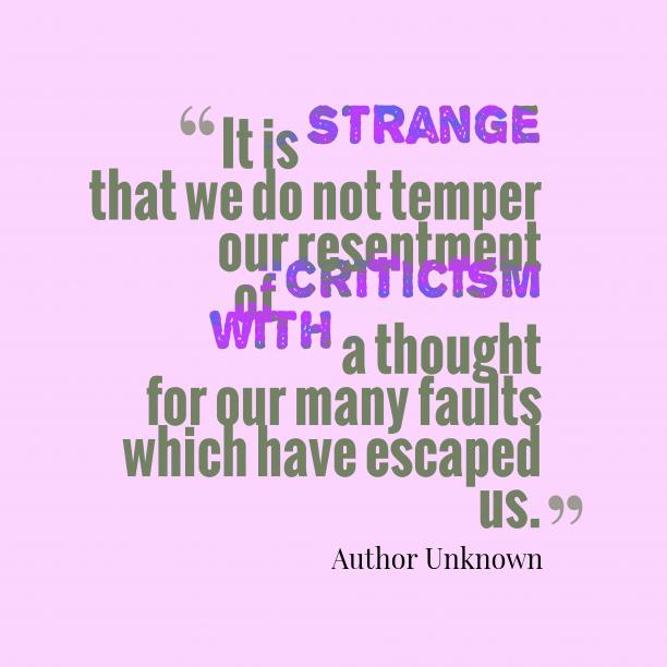 It is strange