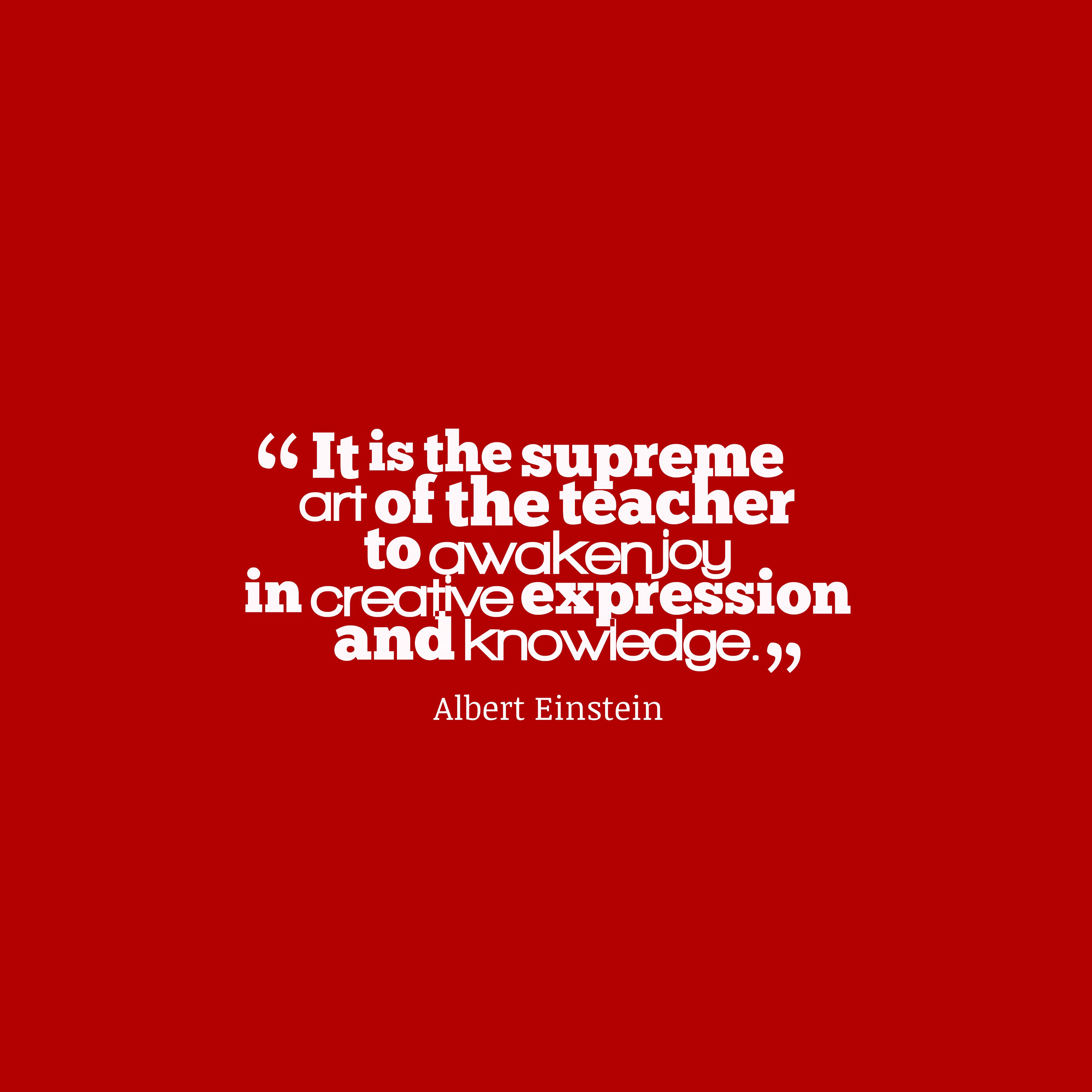 Albert Einstein quote about creativity