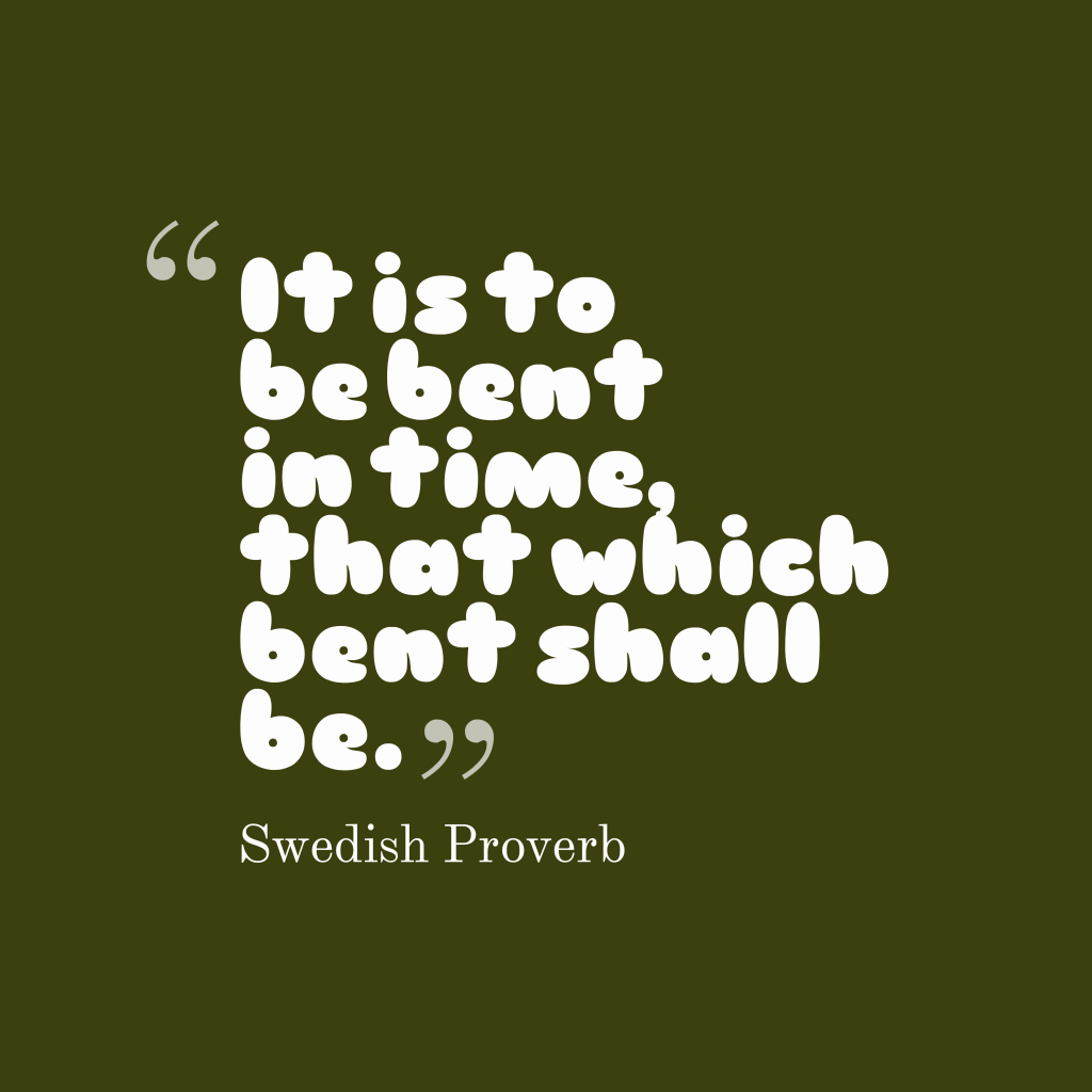 Swedish proverb about people.