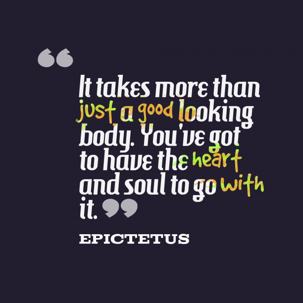 Epictetus quote about health.