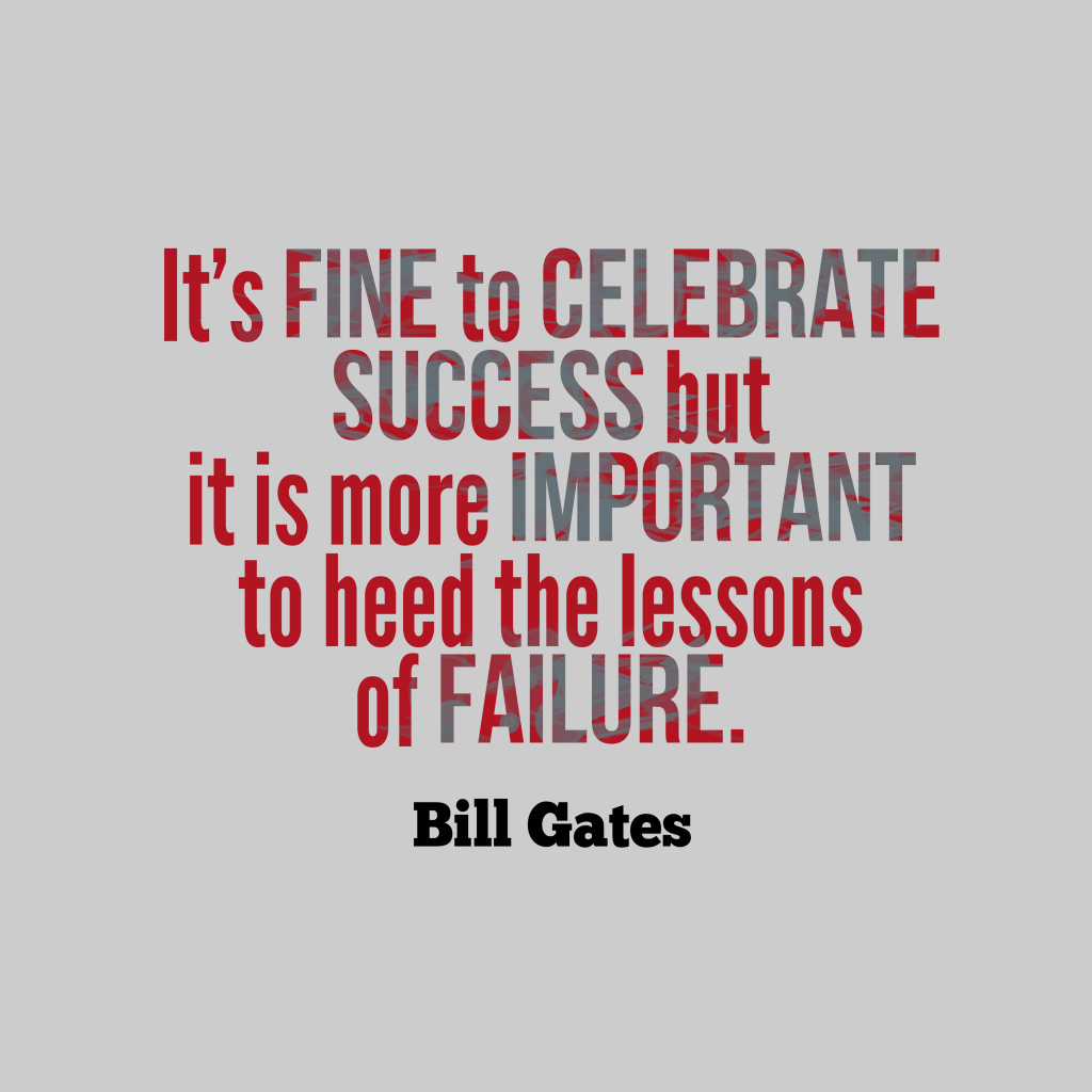 Bill Gates quotes about failure
