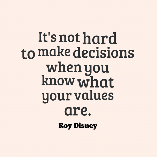 Roy Disney 's quote about . It's not hard to make…