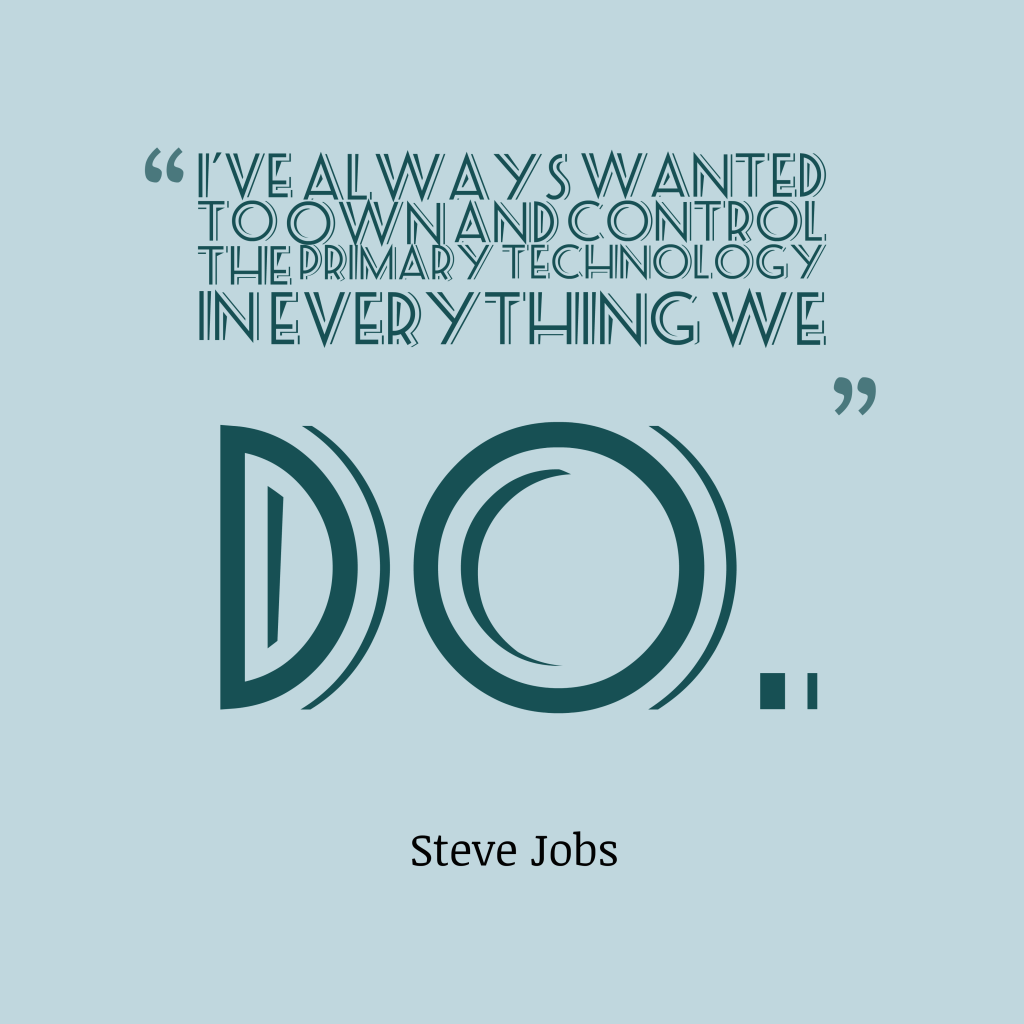 Steve Jobs quote about technology.