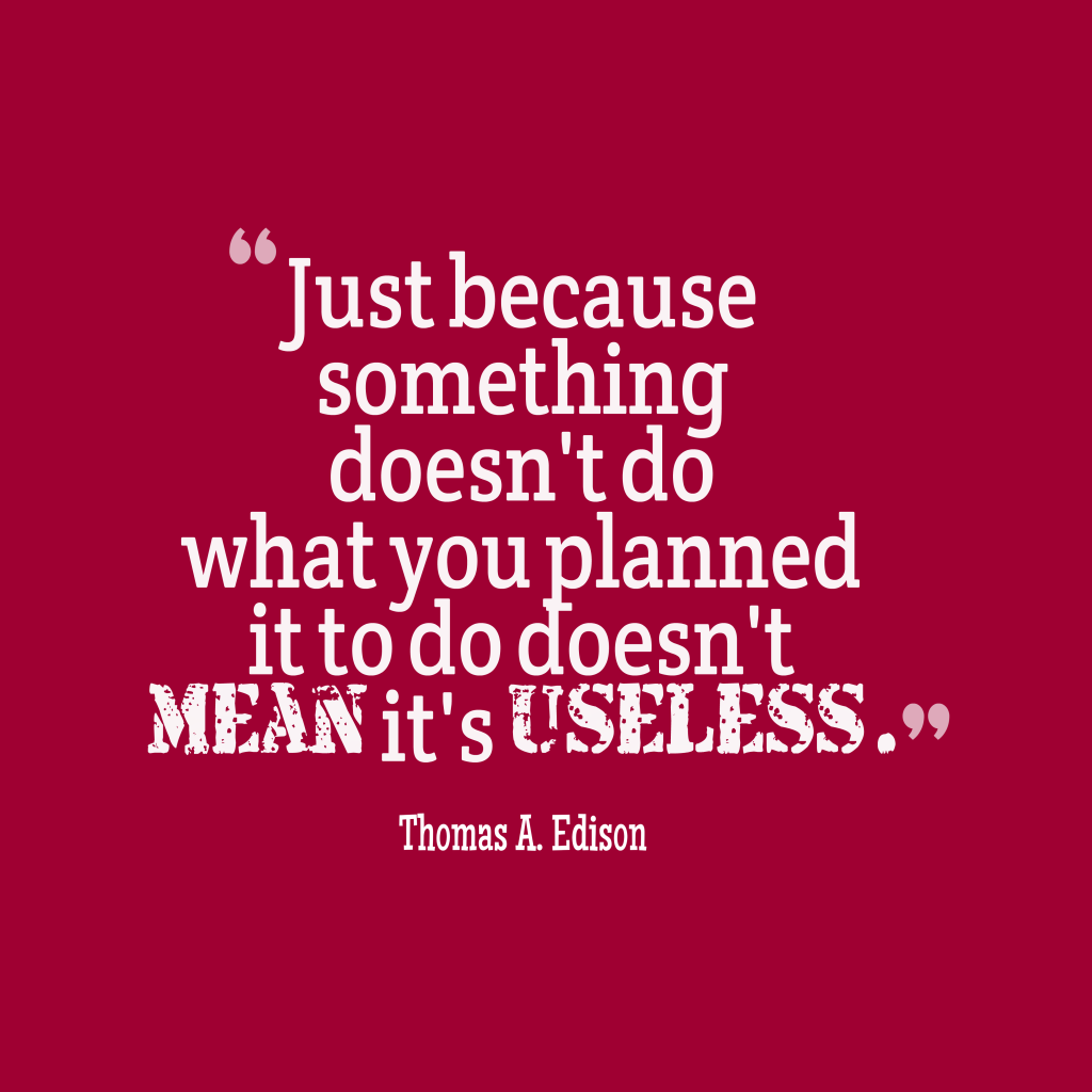 Thomas A. Edison quote about plan.