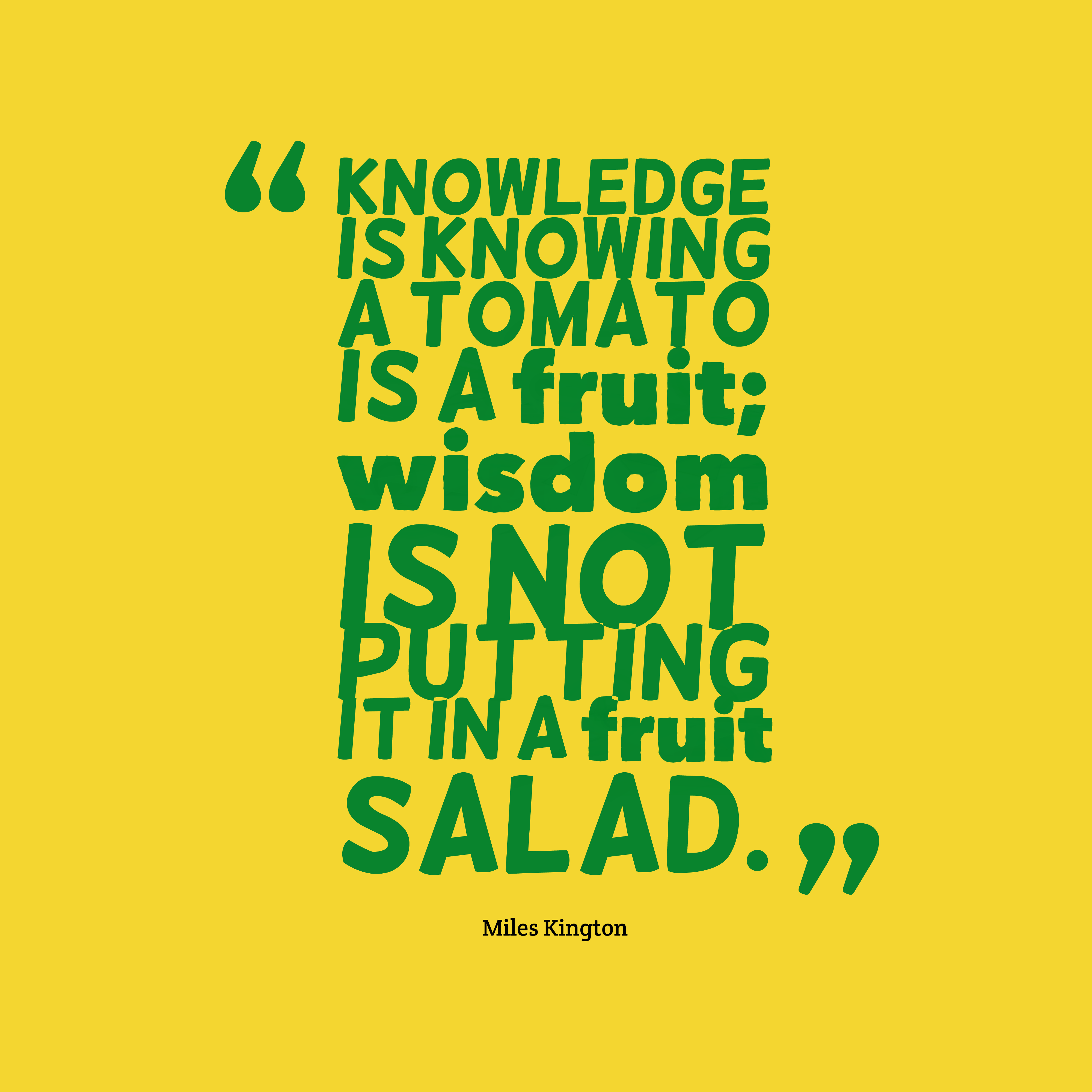 Picture Miles Kington Quote About Knowledge. QuotesCover.com