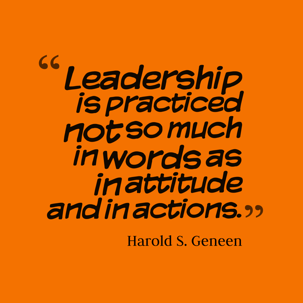 Harold S. Geneen quote about attitude