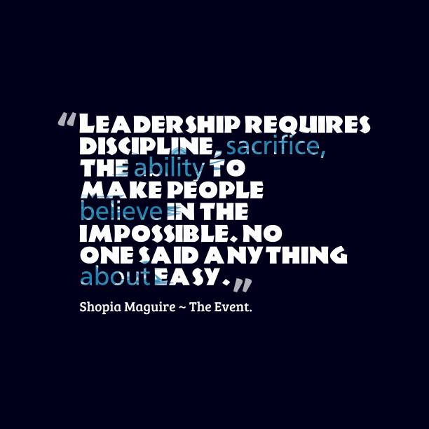 Shopia Maguire quote about leadership.