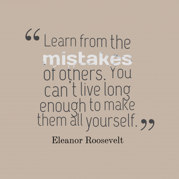 Eleanor Roosevelt quote about learn.