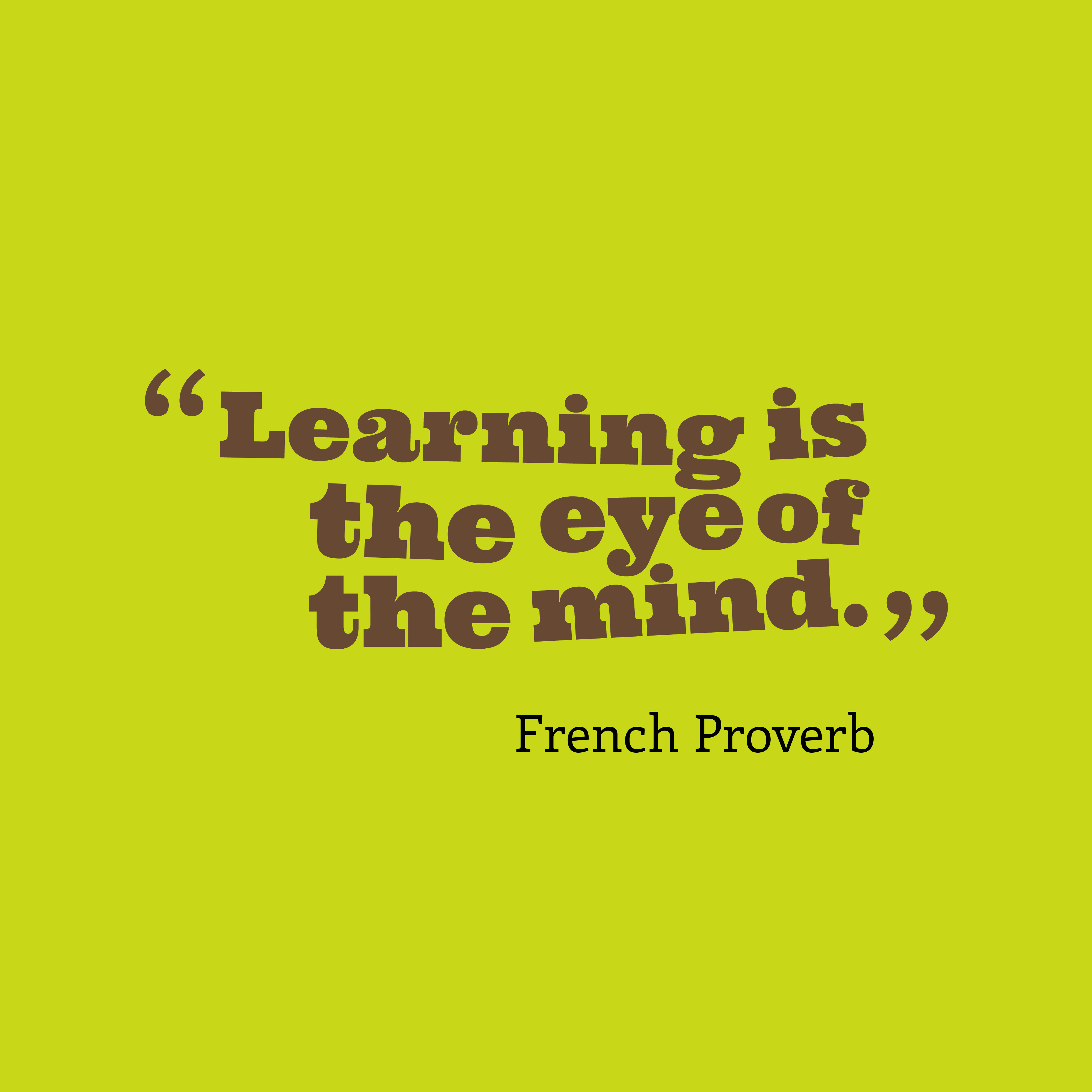 French Wisdom About Learning