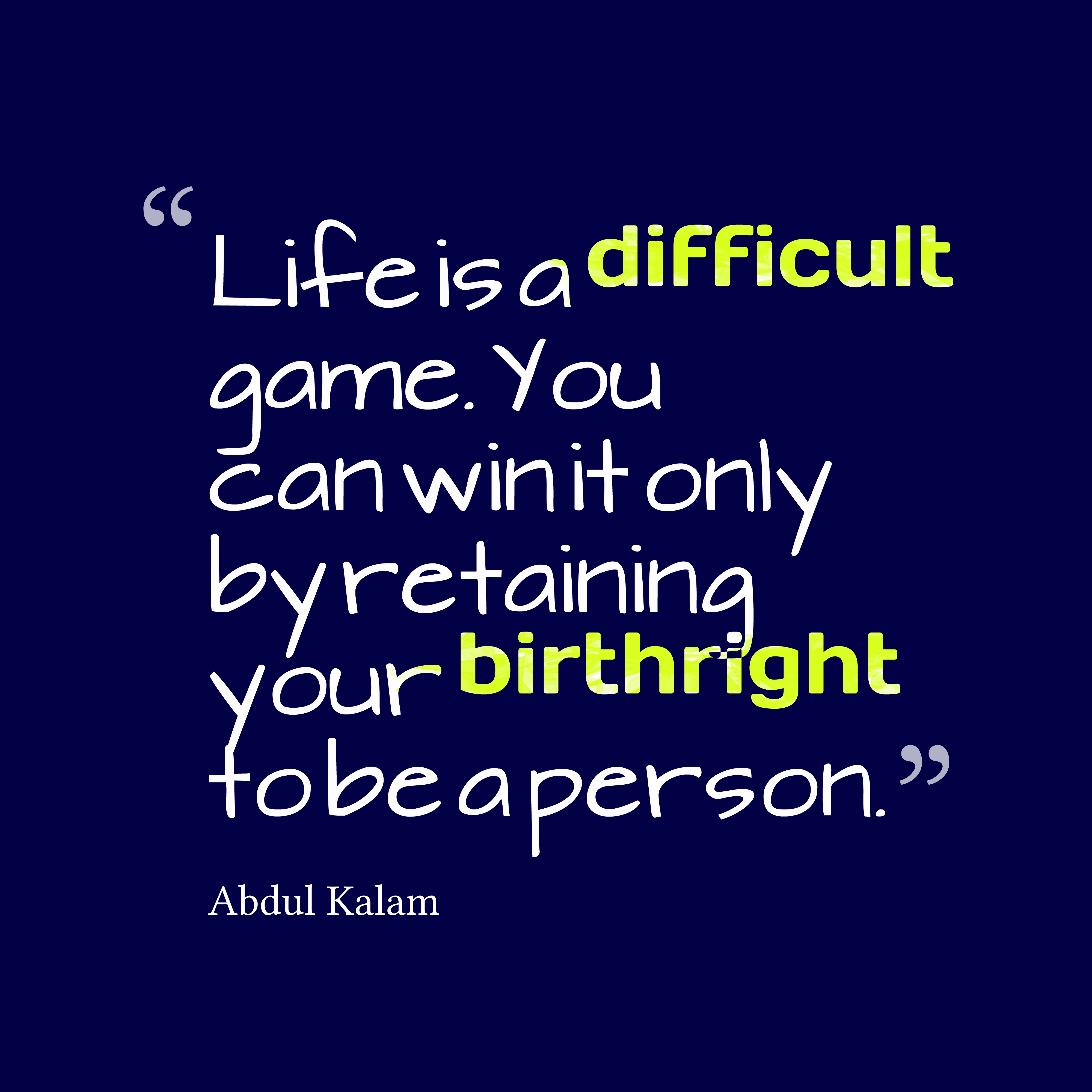 Picture Abdul Kalam quote about life.  QuotesCover.com