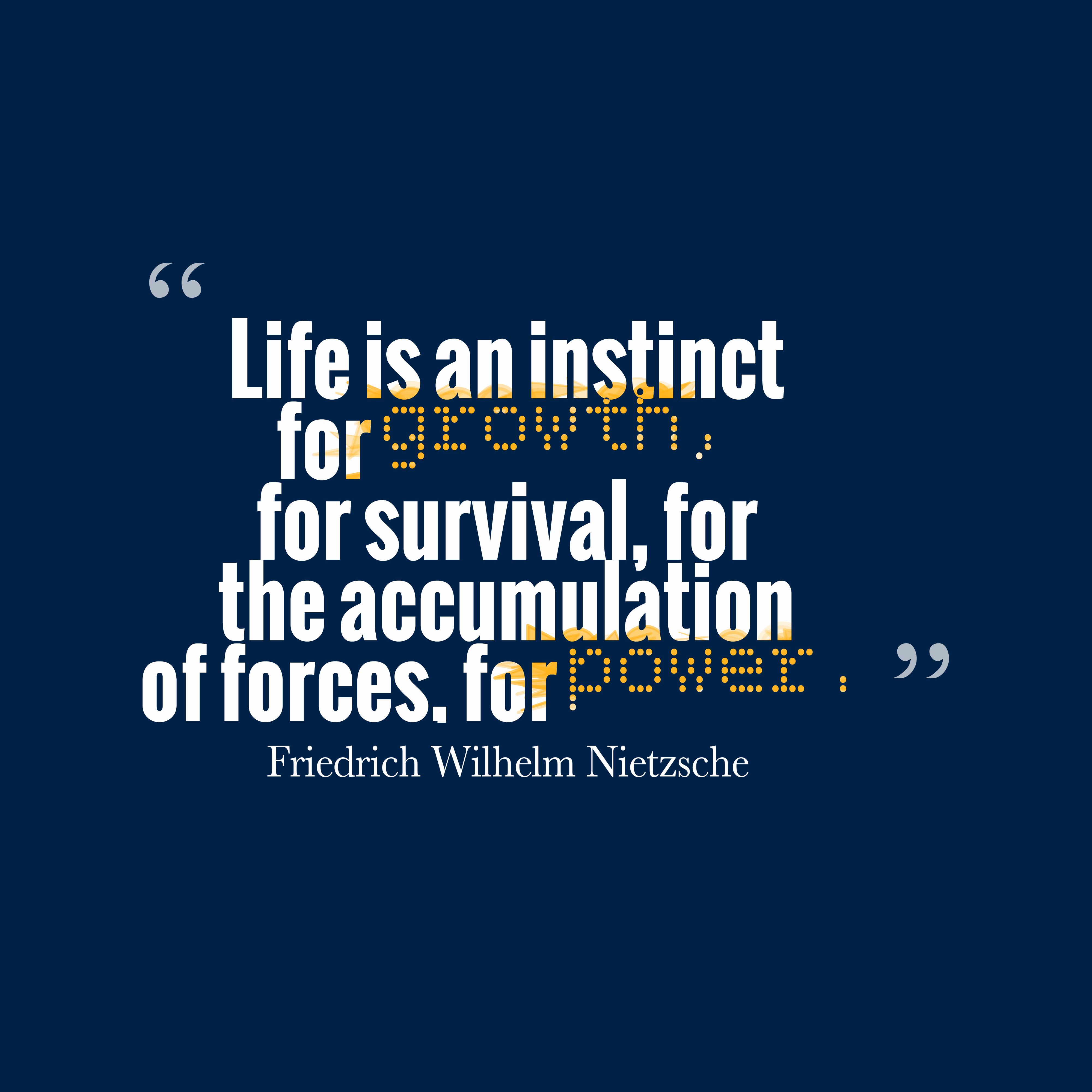 Friedrich Wilhelm Nietzsche Quote About Power