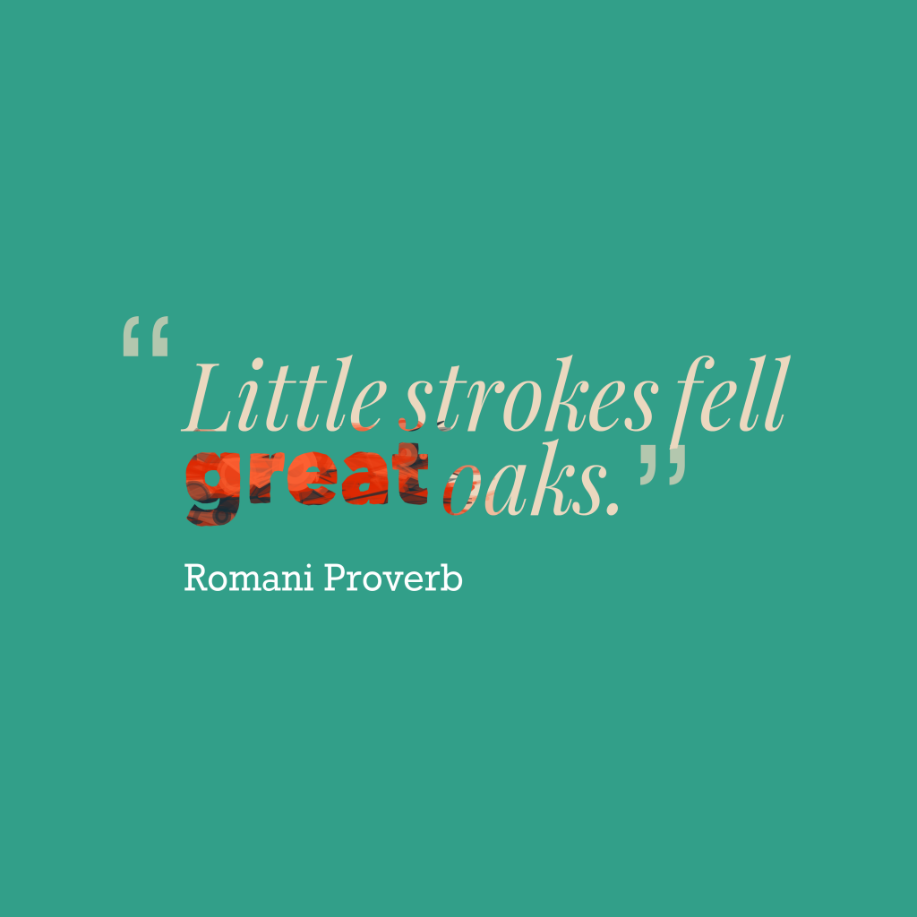 Romani proverb about task.