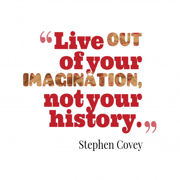 Stephen Covey quote about imagination.