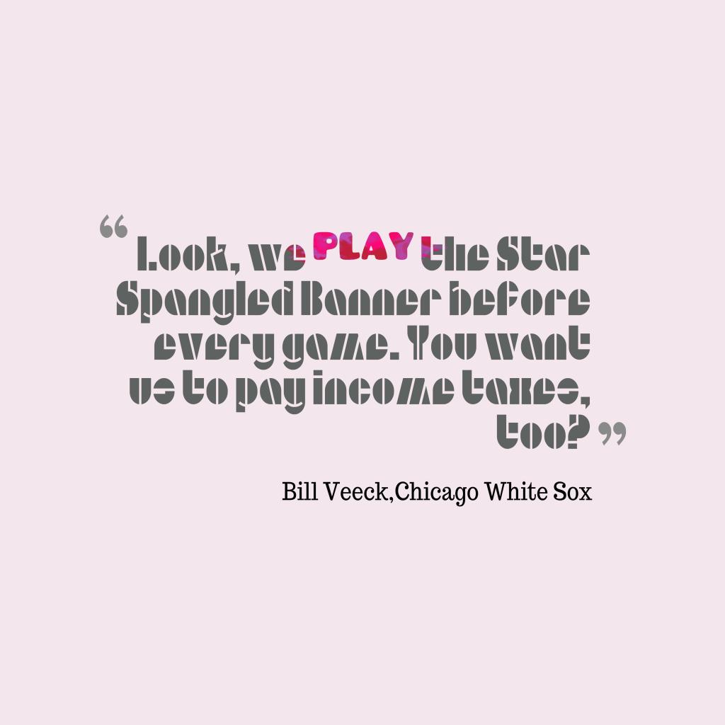 Look, we play