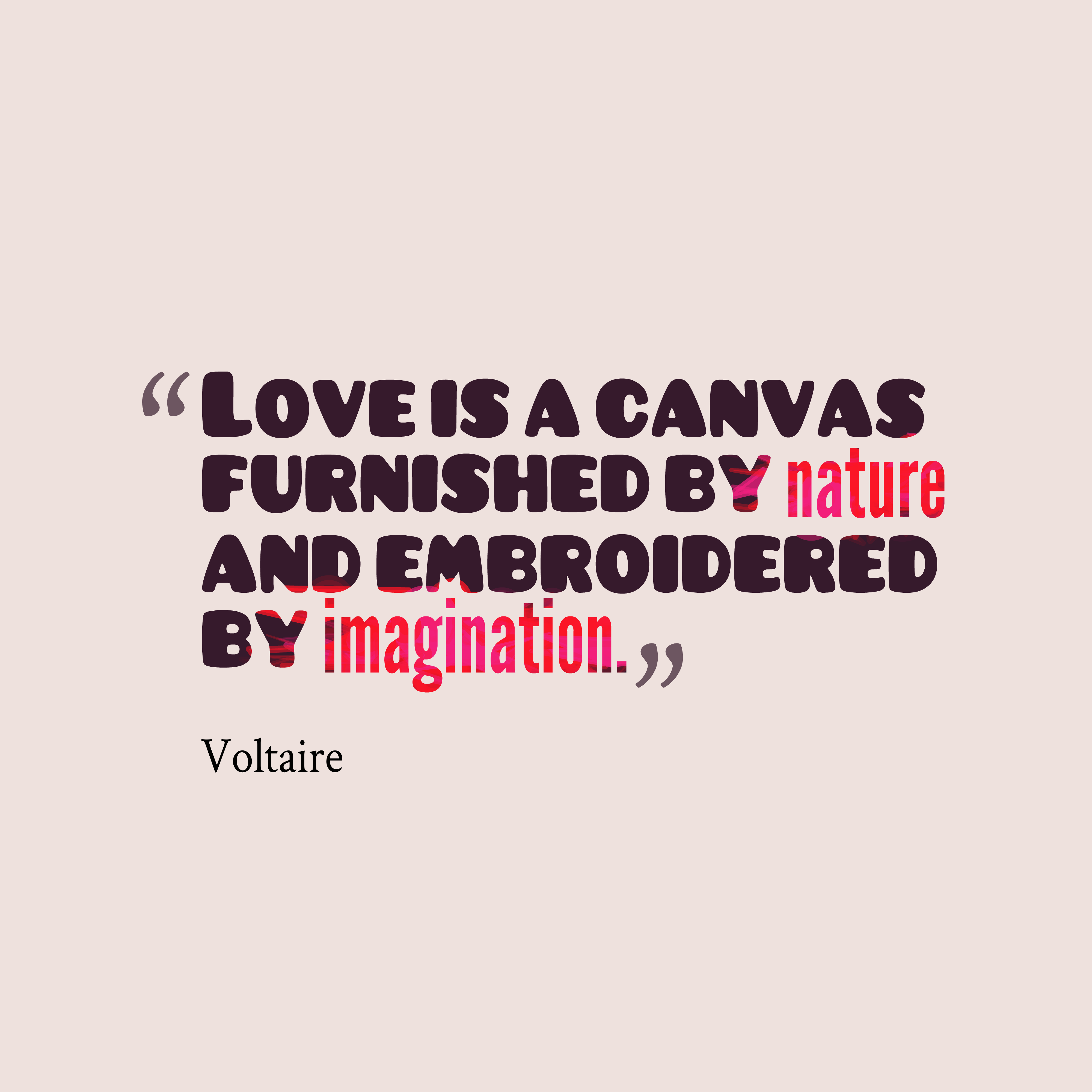 Voltaire quote about love