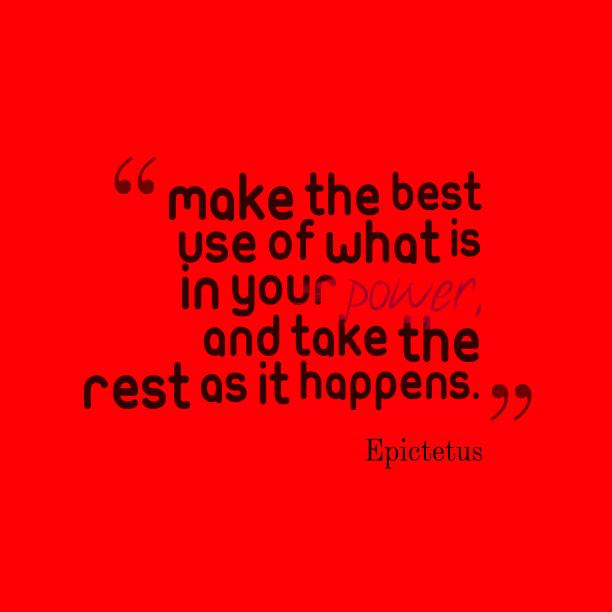Epictetus quotes about power