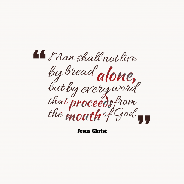 Jesus Christ quote about alone.