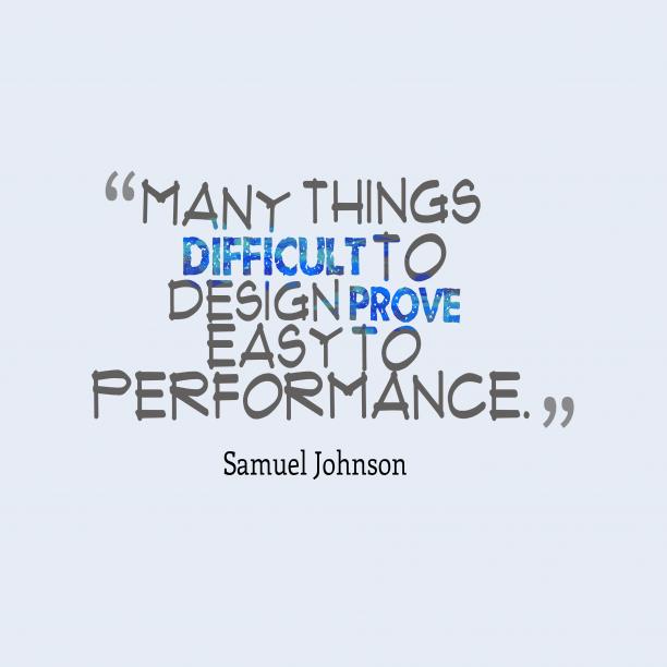 Samuel Johnsonquote about design.