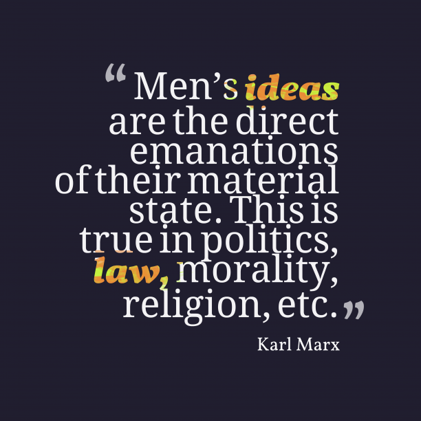 Karl Marx quote about ideas.