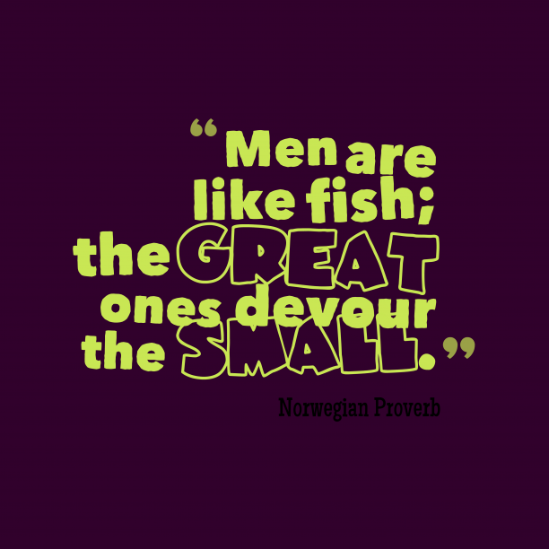 Norwegian Wisdom 's quote about . Men are like fish; the…