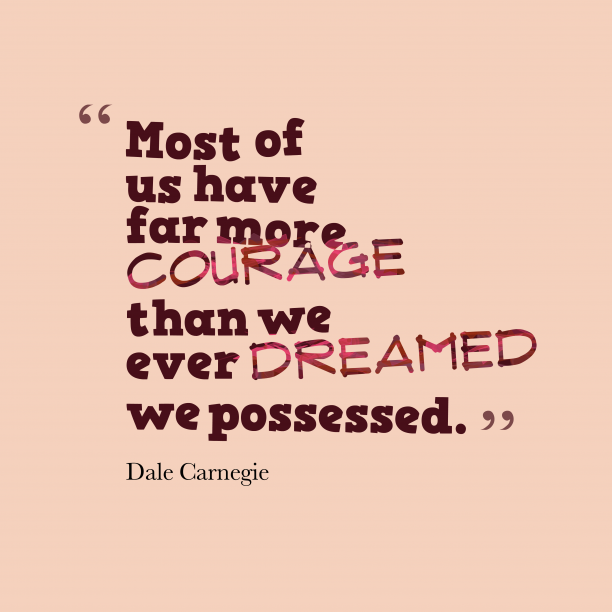 Dale Carnegie quote about possessed.