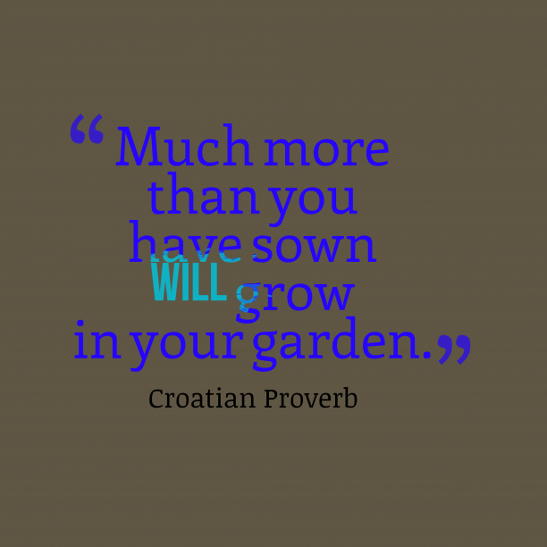 Croatian wisdom about garden.