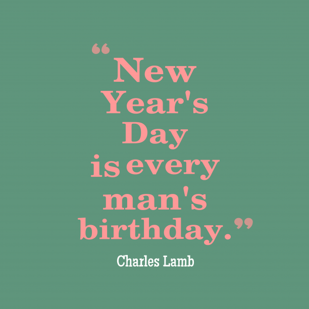 Charles Lamb quote about birthday.