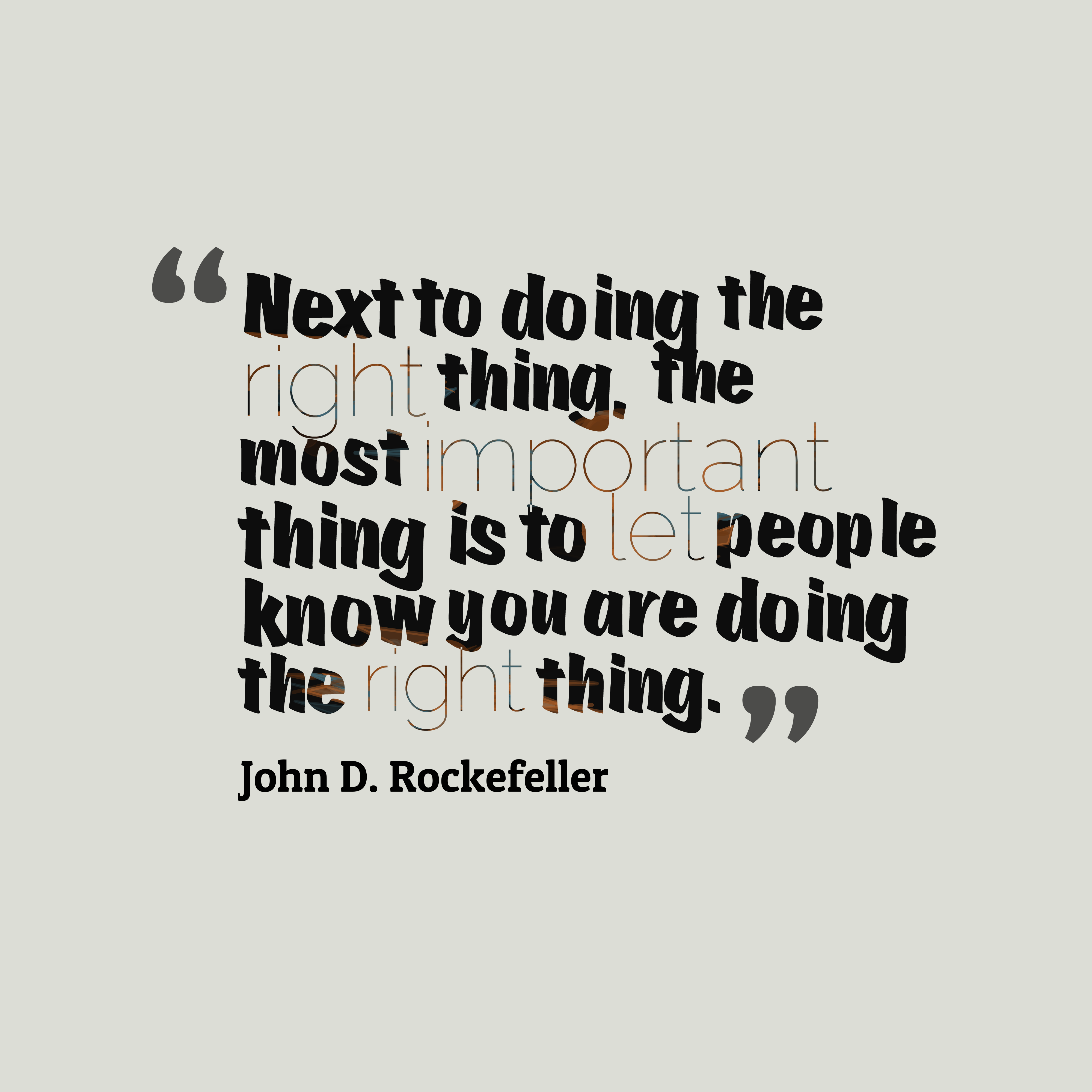 John D Rockefeller Quote About Duty
