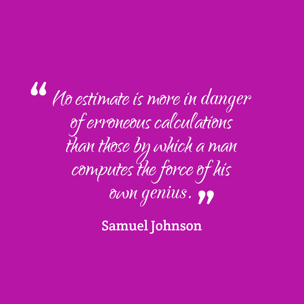 Samuel Johnson quote about genius.