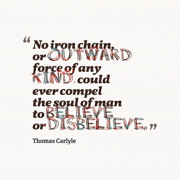 Thomas Carlyle quote about soul.