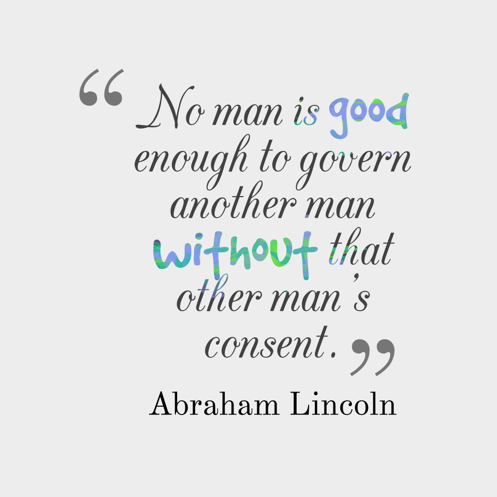 Abraham Lincoln quote about government.