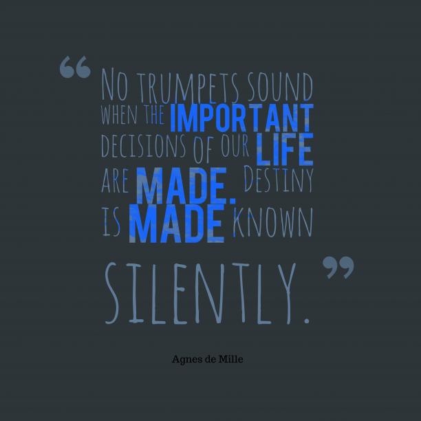 No trumpets sound