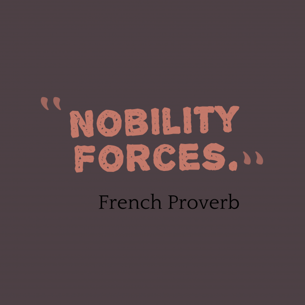 French wisdom about resources.