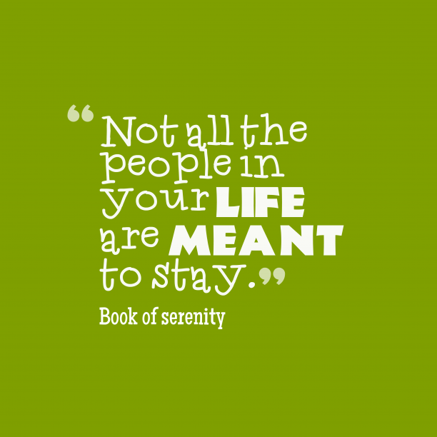 Book of serenity 's quote about life. Not all the people in…