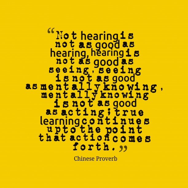 Chinese Wisdom 's quote about Hearing. Not hearing is not as…