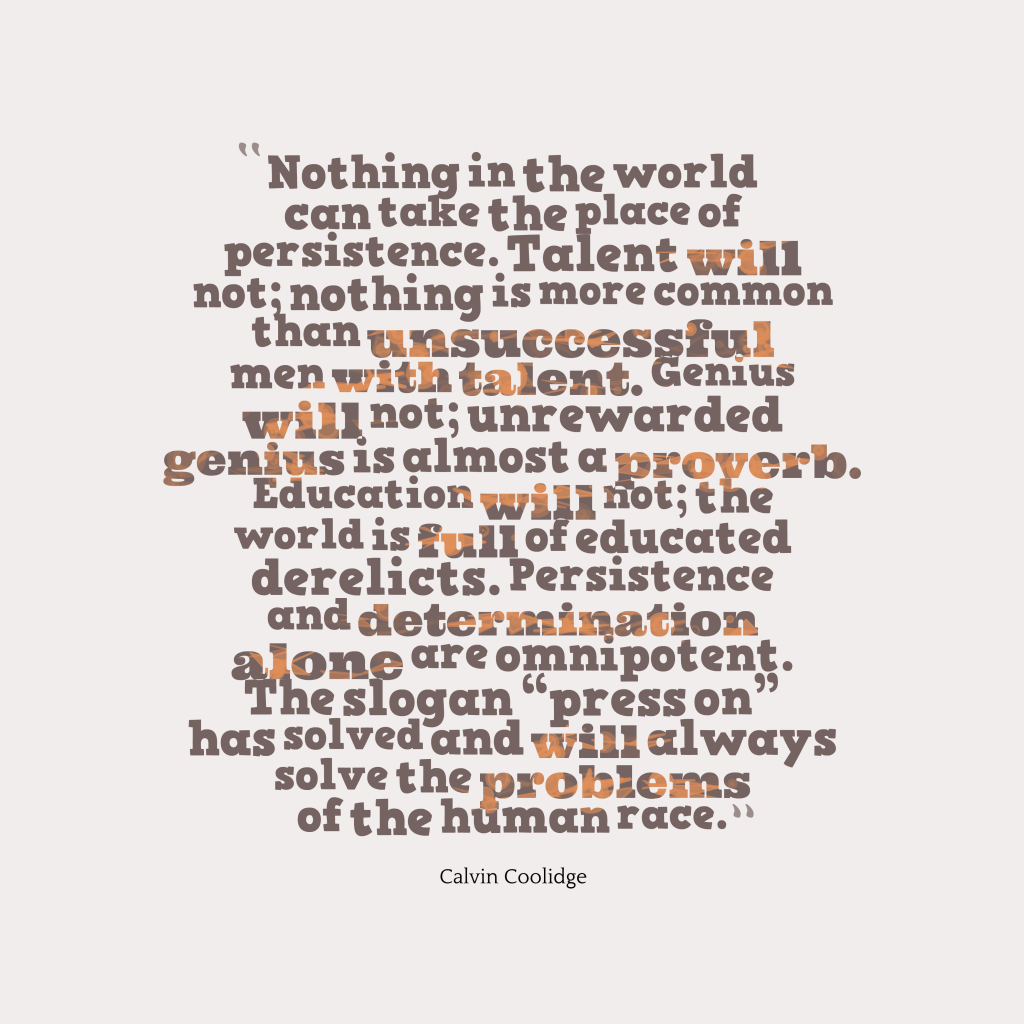 Calvin Coolidge quote about problem.