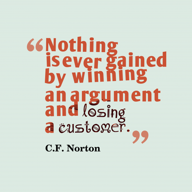 C.F. Norton quote about winning.