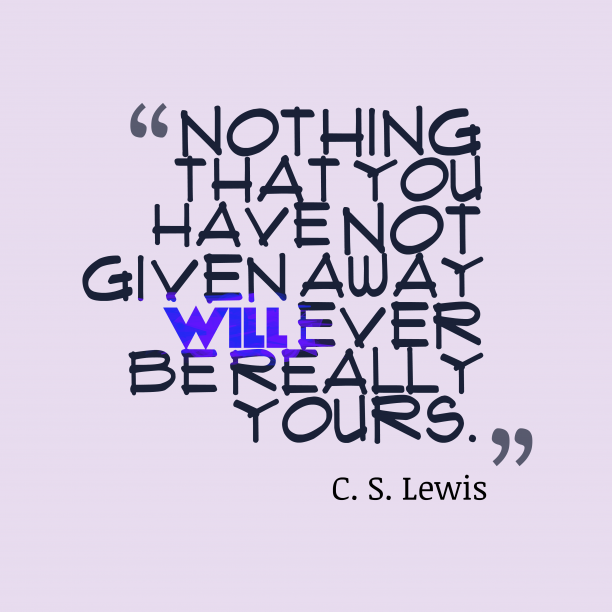 C. S. Lewis quote about wisdom.