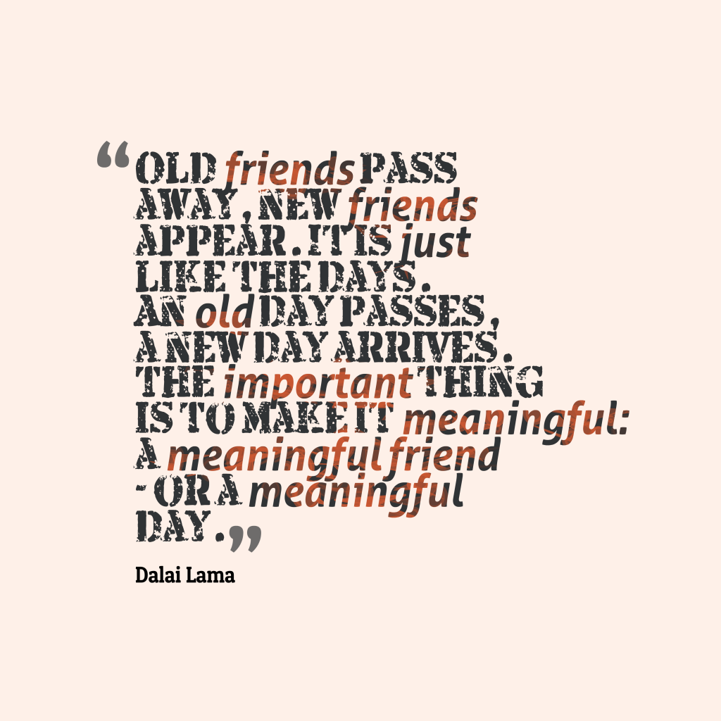 Dalai Lama quote about friendship.