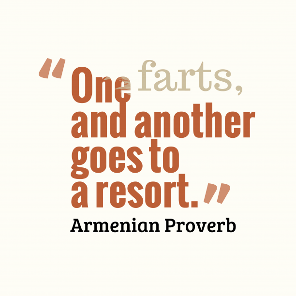 Armenian wisdom about habits.