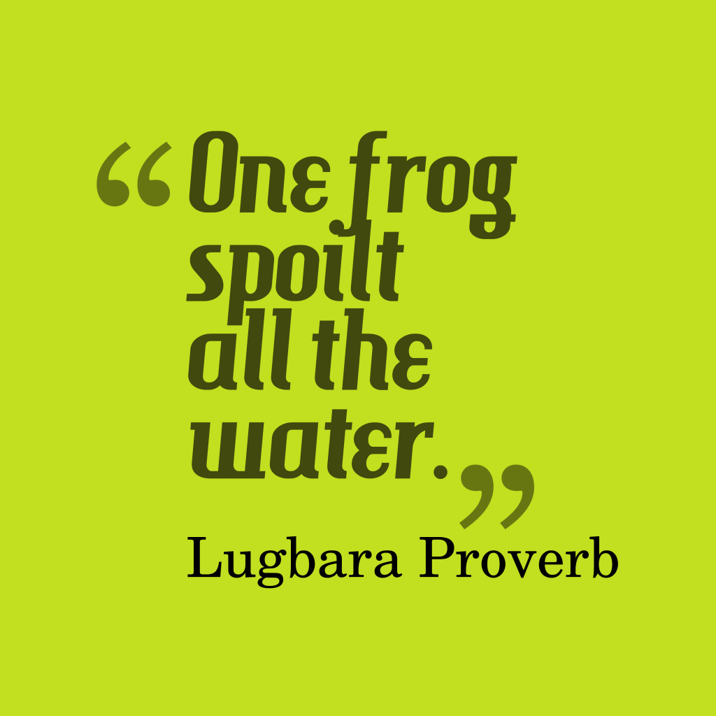 Lugbara proverb about mistake.