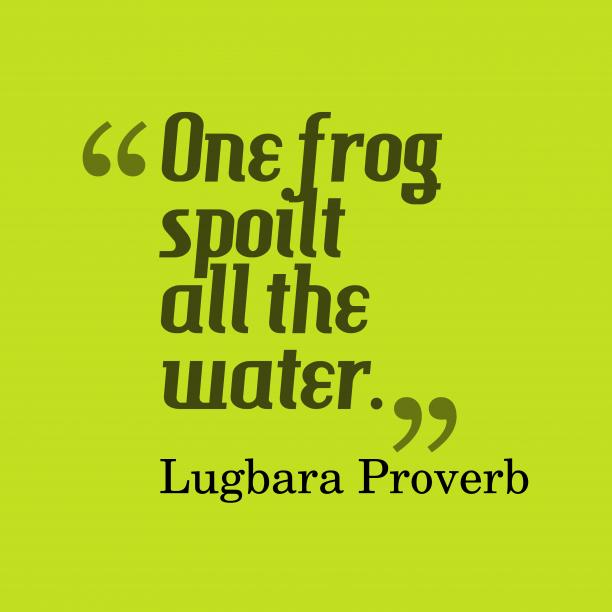 Lugbara wisdom about mistake.