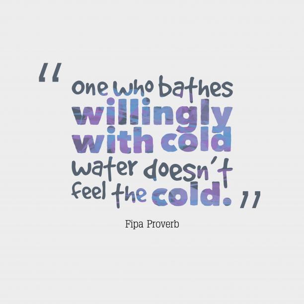 Fipa wisdom about feel.
